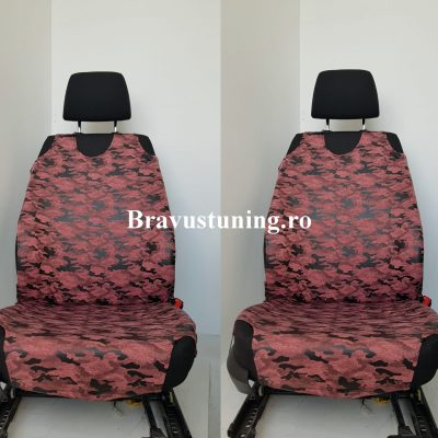 Huse scaun auto tip Maieu Army Rosu Deschis