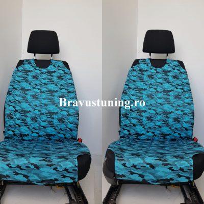 Huse scaun auto tip Maieu Army Bleu