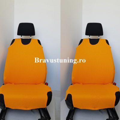 Huse scaun auto tip Maieu Portocaliu