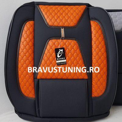 Huse scaun auto Bravus portocaliu + negru