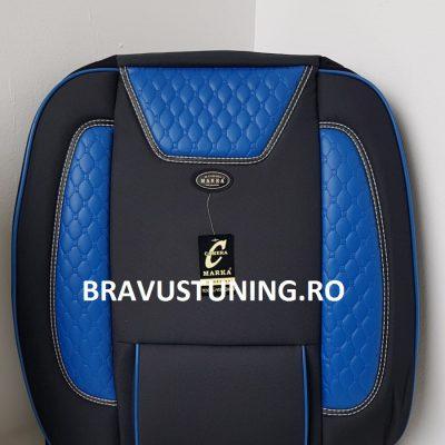 Huse scaun Auto Bravus Negru+Albastru