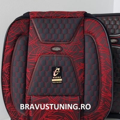 Huse scaun auto Bravus Negru+ Rosu
