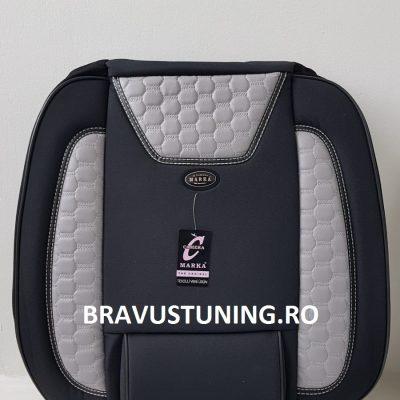 Huse scaun auto Bravus Negru+ Gri