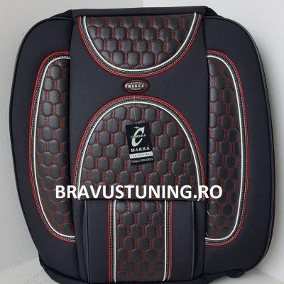 Huse scaun auto Bravus Negru+Rosu+Alb