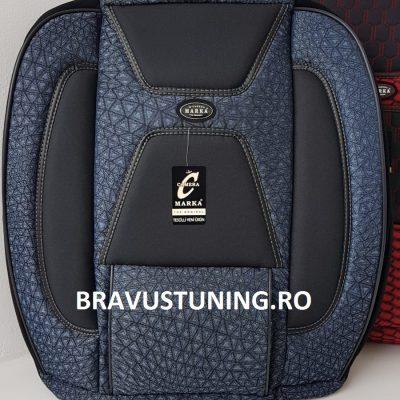 Huse scaun auto Bravus Albastru + Negru