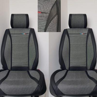 Huse scaun auto 2 locuri piele ecologica+textil