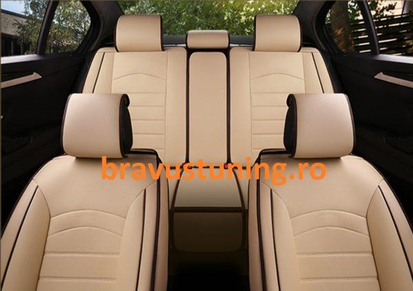 Huse scaun auto Piele Ecologica Bej
