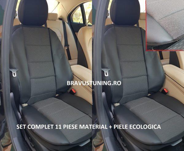 Huse scaun material + piele ecologica NEGRU