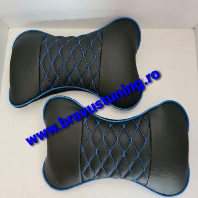 Set perne tetiera Ecologica Negru+Albastru